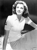 Esther Williams Seated in Black and White