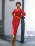 Eartha Kitt in Red Long Dress