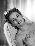 Eva Gabor on a Wedding Gown Leaning Portrait