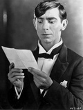 Eddie Cantor Reading in Black and White