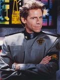 Jeff Conaway as Zach Allan in Babylon 5 in Black Long Sleeve Uniform with Arms Crossed