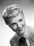 Judy Holliday on a Stripe Top smiling Portrait