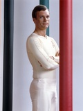Keir Dullea Posed in White Tights