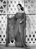 Gale Sondergaard Posed in Dress