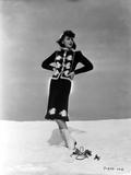 Ida Lupino on a Long Sleeve with Hands on Waist