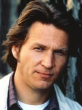 Jeff Bridges Close Up Portrait in White Collar Shirt