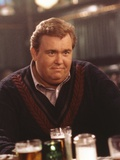John Candy in Black Sweater with Beer
