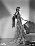Ida Lupino on a Silk Dress and Hand on Waist