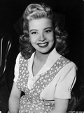 Gloria DeHaven Red lipstick  Curly Hair smiling