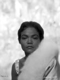 Eartha Kitt Portrait in Feather Coat