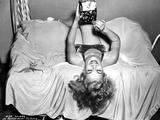 Eva Gabor Lying Upside Down Pose