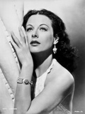 Hedy Lamarr wearing a Halter Blouse with earrings and Necklace