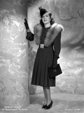 Gracie Allen wearing Black Gown with Black Hat Portrait