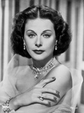 Hedy Lamarr Posed in Shining Jewelries