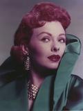 Jeanne Grain in Green Coat Close Up Portrait