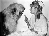 Hayley Mills with Dog in Classic Portrait