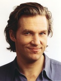Jeff Bridges Close Up Portrait in Grey Linen Collar Shirt in White Background