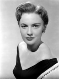 Joan Leslie wearing a Black V-Neck Dress in Portrait