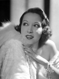 Ethel Merman Portrait in Classic with Feather Coat