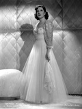 Gracie Allen in White Gown Side View Portrait