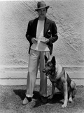 Gilbert Roland posed with Dog