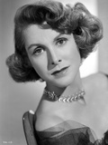 Frances Dee posed in Portrait in Black and White