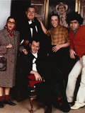 John Candy wearing a Formal Outfit in a Group Portrait