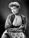Dorothy McGuire on a Printed Top Leaning and posed