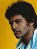 Erik Estrada Portrait in Yellow Background