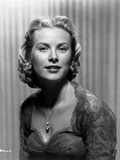 Grace Kelly Curly Hairdo Portrait in Black and White