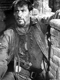 Eli Wallach Leaning on Wall With Cowboy Outfit