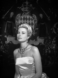 Grace Kelly wearing White Gown Portrait