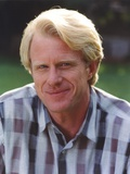 Ed Begley posed in Checkered Polo