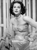 Hedy Lamarr wearing a Rube Silk Dress
