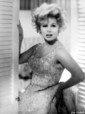 Eva Gabor on a Beaded Dress and Leaning Portrait