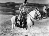 Eddie Cantor Riding Horse in Egyptian Outfit