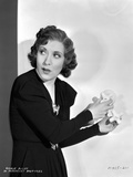 Gracie Allen Red lipstick   Curly Hairdo Portrait