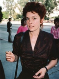 Genevieve Bujold in Black Formal Dress Portrait
