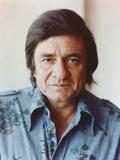 Johnny Cash Portrait in Denim Polo