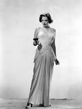 Jane Greer on a Dress Holding a Gun Portrait