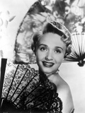 Jane Powell on a Strip Top and smiling