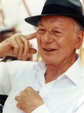 John Gielgud wearing a White Long Sleeves and a Hat in a Portrait