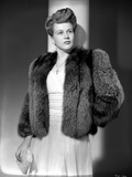 Kim Hunter on a Furry Coat and standing Portrait