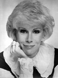 Joan Rivers wearing a Black and White Blouse in a Classic Portrait