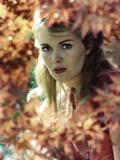 Jean Seberg in Red Dress Portrait