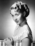 Jane Powell on an Off Shoulder Dress and Leaning