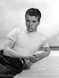 Jackie Cooper Posed in White Tshirt With White Background