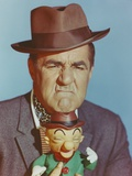 Jim Backus Showing His Frowned Face in Portrait