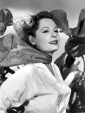 Jane Greer on a Long Sleeve Top with a Handkerchief on Neck Portrait
