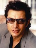 Jeff Goldblum Posed in Grey Linen Suit
